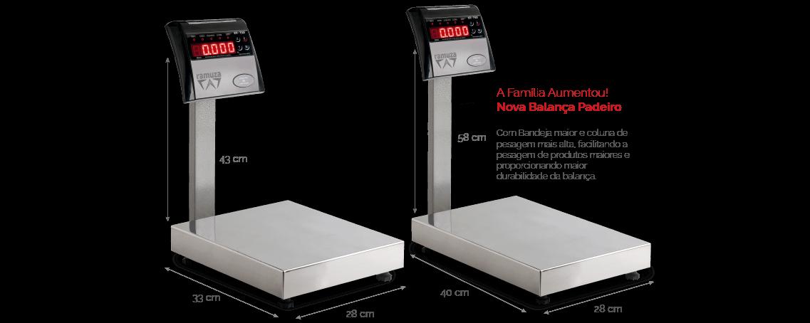 Balança Checkin/Checkout Padeiro Ramuza de 30kg a 100kg